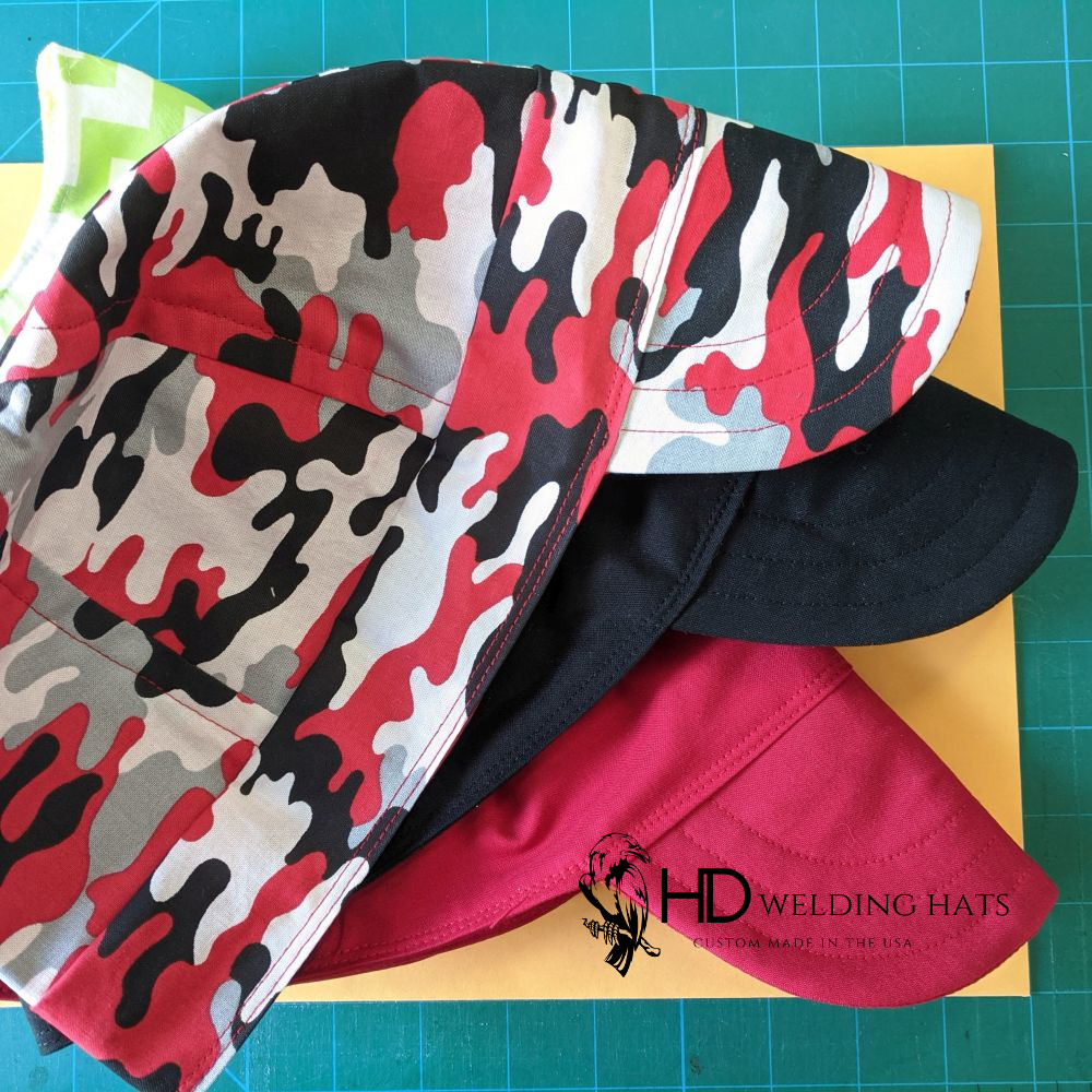 Red to Black Camo Welding Hat