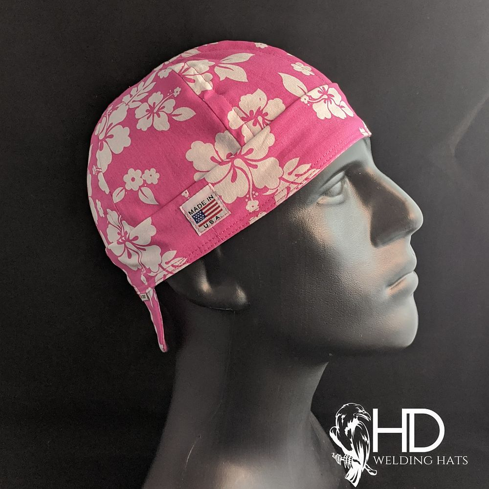 Hawaiian Pink Welding Hat