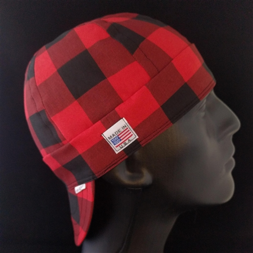 Buffalo Plaid Red Welding Hat