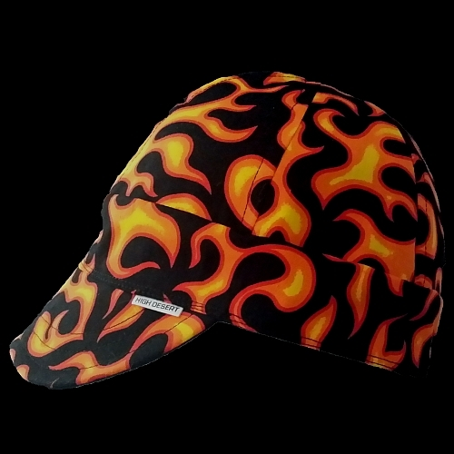 On Fire Black/Orange Welding Hat