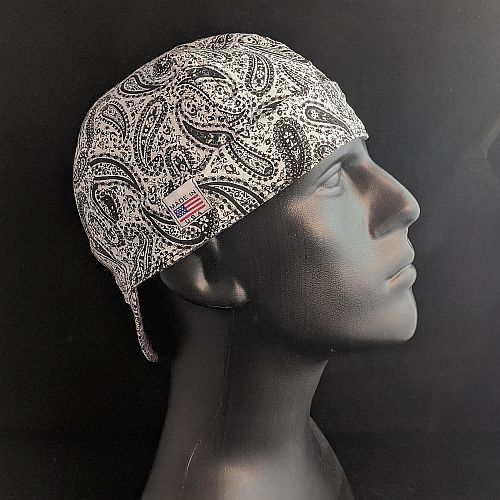 Black & White Paisley Welding Cap