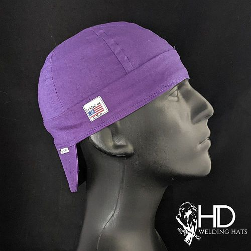 Solid Purple Welding Hat