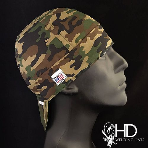 Green Camo Welding Hat