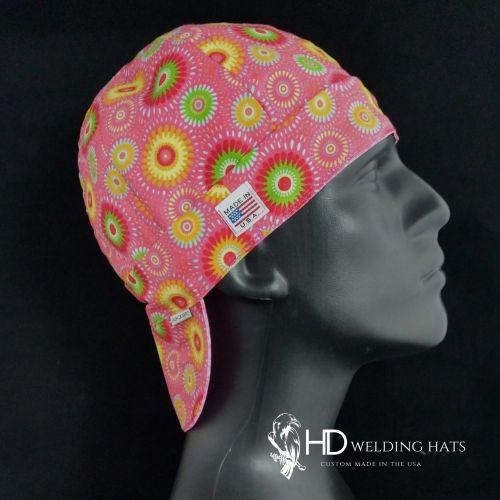 Flamingo Retro Medallion Welding Hat