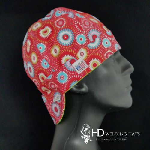 Coral Retro Medallion Welding Hat