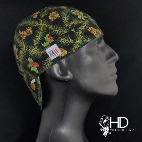 Christmas Floral Welding Hat
