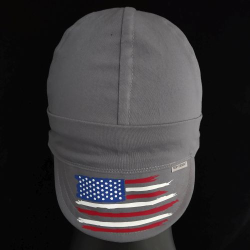 Distressed Flag Colors Welding Hat