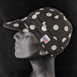 Black Dot Cotton Welding Hat