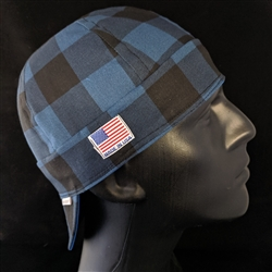 Buffalo Plaid Blue Welding Hat