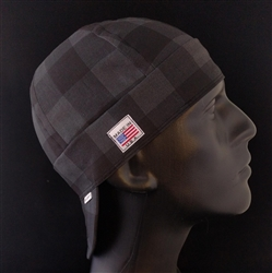 Buffalo Plaid Gray Welding Hat