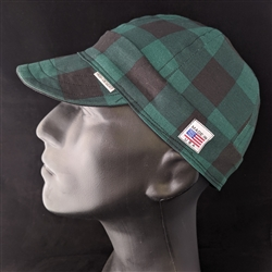 Buffalo Plaid Green Welding Hat
