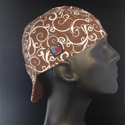 Chocolate Swirl Welding Hat