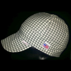 Gray Houndstooth Welding Hat