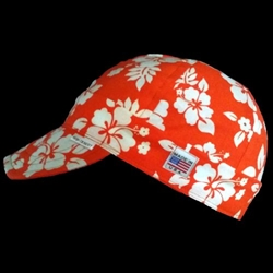 Hawaiian Orange Welding Hat