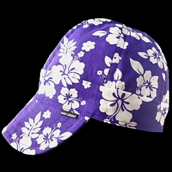 Hawaiian Purple Welding Hat