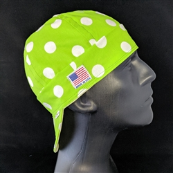 Lime Dots Welding Hat