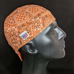 Orange Bandanna Welding Hat