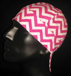 Pink Chevron Welding Hat