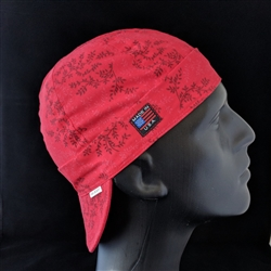 Red Calico Welding Hat